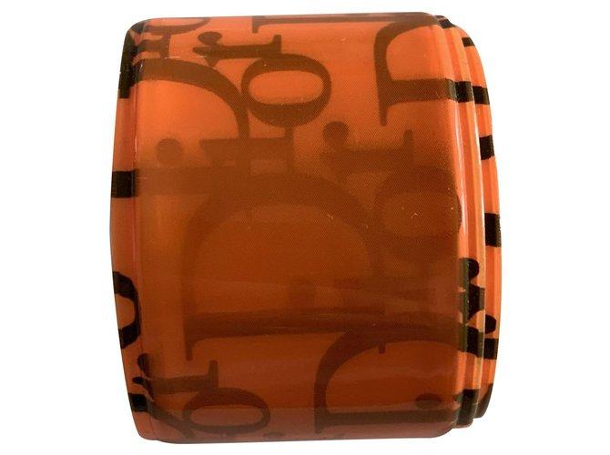 Bracelets Dior Bracelets Plastique Orange ref.238814