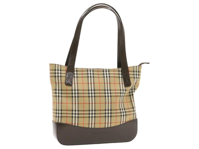 Burberry Burberry tote bag Totes Cloth Beige ref.238858