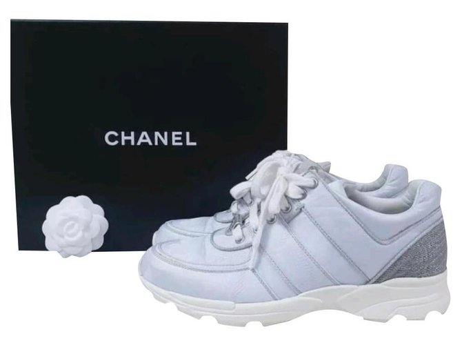 Chanel CHANEL Textile Multicoloured Sneakers Sz.37,5 auth Sneakers Other White ref.239248