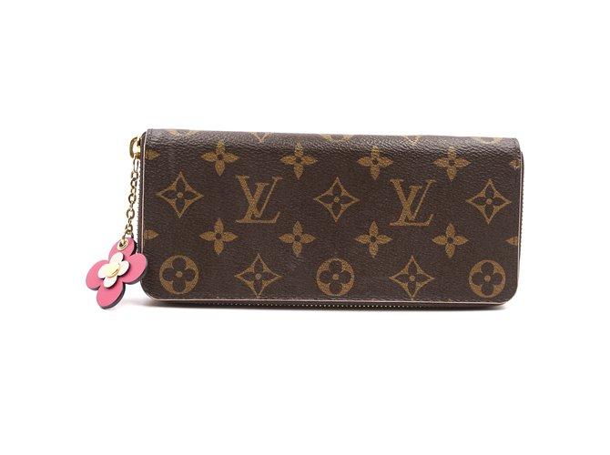 Louis Vuitton Louis Vuitton Monogram Flowers Zip Around Long Wallet Purses, wallets, cases Leather Brown ref.239263