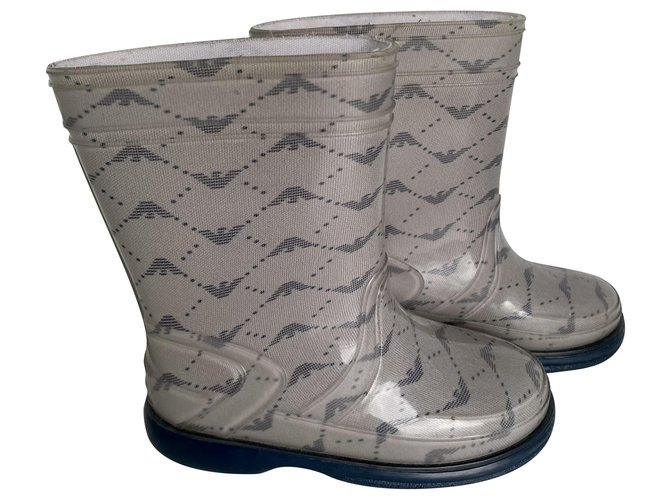 Armani Boots Boots Rubber Blue,Grey ref.239591