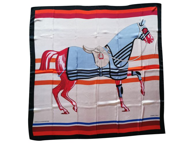 Hermès HORSE ON THE COVER Silk scarves Silk Multiple colors ref.239922
