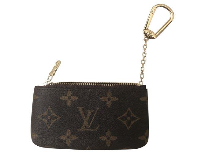 Louis Vuitton Louis Vuitton Monogram Key Pouch Purses, wallets, cases Cloth Brown ref.239944