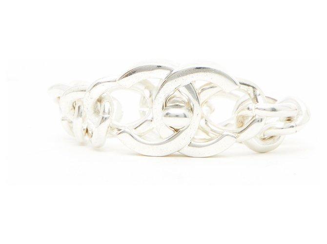 Chanel SILVER LOCKER XXL Bracelets Metal Silvery ref.240524