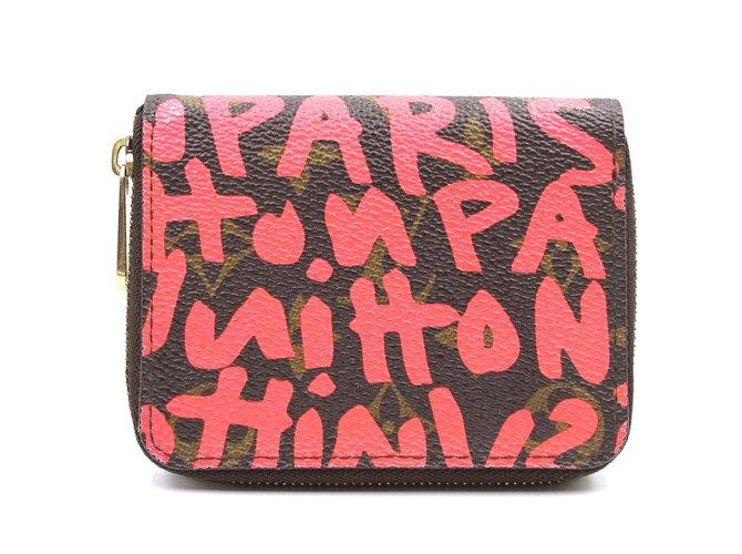 Louis Vuitton Louis Vuitton Monogram Graffiti Square Zip Around Wallet Purses, wallets, cases Leather Multiple colors ref.241782