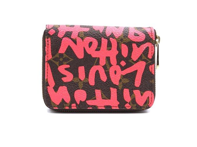 Louis Vuitton Louis Vuitton Monogram Graffiti Square Zip Around Wallet Purses, wallets, cases Leather Multiple colors ref.241855