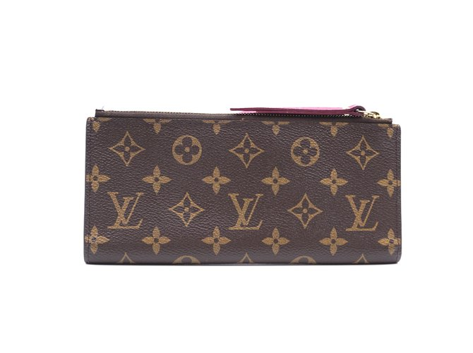 Louis Vuitton Louis Vuitton Monogram Adele lined Bifold Long Wallet Purses, wallets, cases Leather Brown ref.241862
