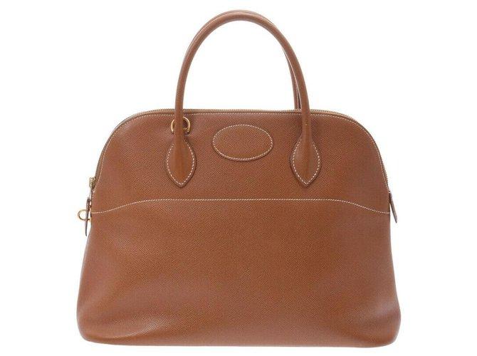 Hermès Hermes Bolide Handbags Leather Brown ref.242421