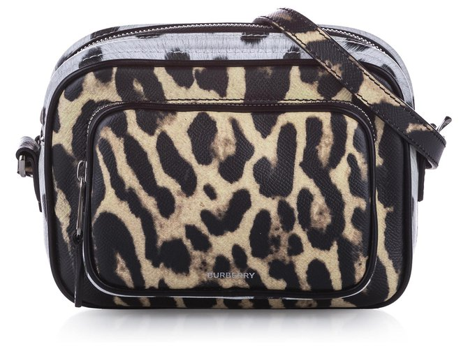 Burberry Burberry Brown Animal Print Leather Crossbody Bag Handbags Leather,Pony-style calfskin Brown,Multiple colors ref.242570