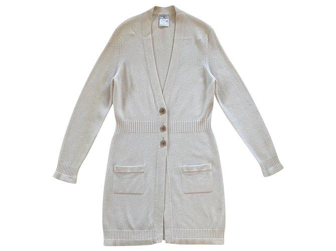 Chanel Knitwear Beige Cashmere  ref.242885