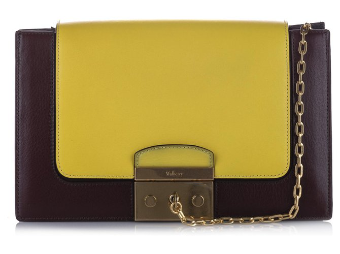 Mulberry Mulberry Yellow Pembroke Leather Shoulder Bag Handbags Leather,Other,Metal,Pony-style calfskin Multiple colors,Yellow ref.244350