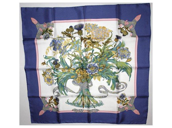 "Hermès SQUARE HERMES ""REGINA"" Silk scarves Silk Multiple colors ref.244830"