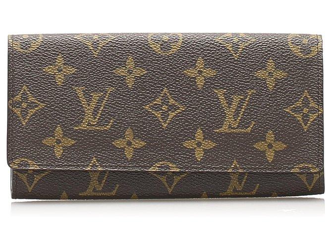 Louis Vuitton Louis Vuitton Brown Monogram Porto Long Wallet Purses, wallets, cases Cloth Brown ref.244887