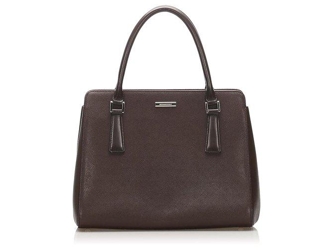Burberry Burberry Black Leather Handbag Handbags Leather,Pony-style calfskin Black ref.244952