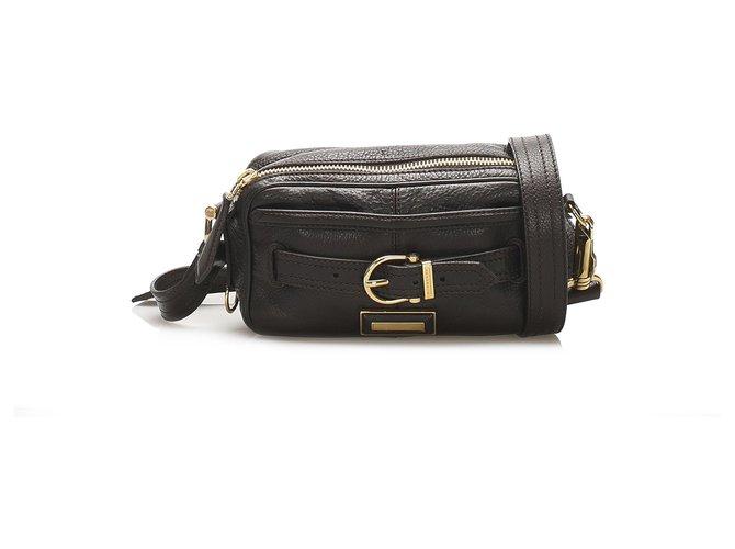 Burberry Burberry Brown Leather Crossbody Bag Handbags Leather,Pony-style calfskin Brown,Dark brown ref.245248