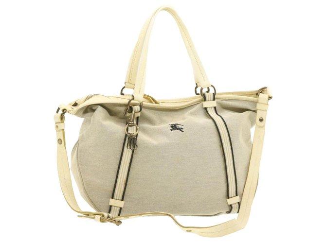 Burberry Burberry Shoulder bag Handbags Cloth Beige ref.245570