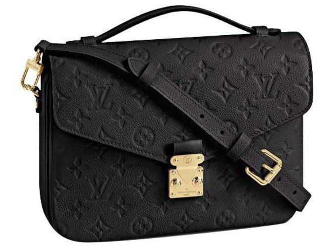 Louis Vuitton LV Metis pochette new Handbags Leather Black ref.246427