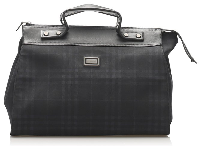 Burberry Burberry Black Plaid Handbag Handbags Leather,Plastic,Pony-style calfskin Black,Multiple colors ref.246917