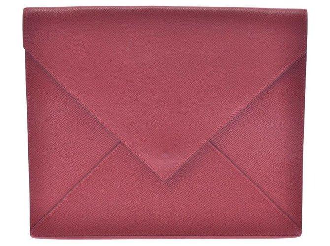 Hermès Hermès Clutch bag Clutch bags Leather Red ref.246984