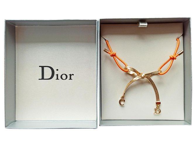 Colliers Dior Colliers Métal,Elasthane Orange,Corail ref.247066