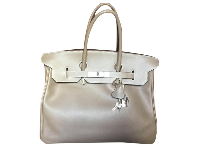 Hermès Hermes Birkin handbag 35 taupe color Handbags Leather Beige ref.247823