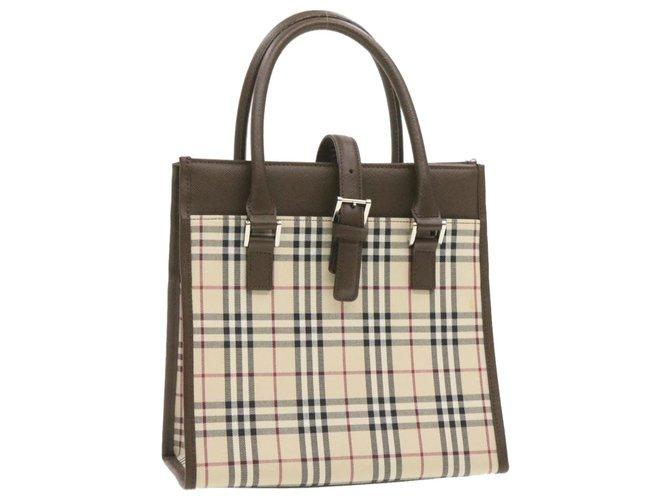 Burberry Burberry handbag Handbags Cloth Beige ref.247992