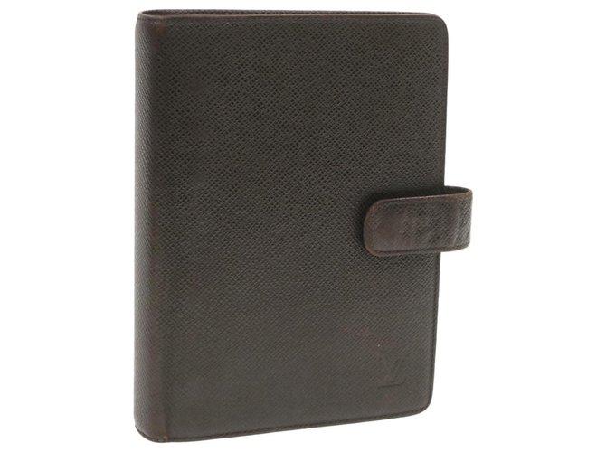 Louis Vuitton Louis Vuitton Agenda Cover Purses, wallets, cases Leather Brown ref.248003