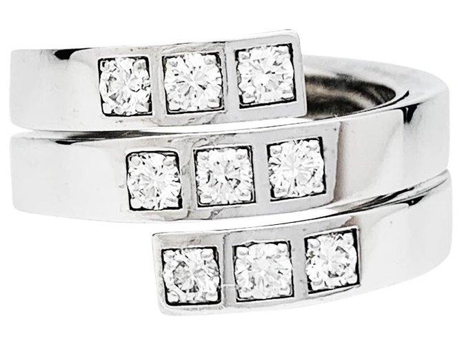 """Bagues Cartier Bague Cartier """"Tectonique"""" en or blanc et diamants. Or blanc,Autre Autre ref.248135"""