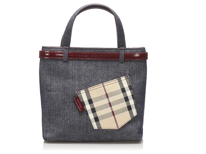 Burberry Burberry Blue Denim Handbag Handbags Cloth,Denim,Cloth Blue,Multiple colors,Other ref.248202
