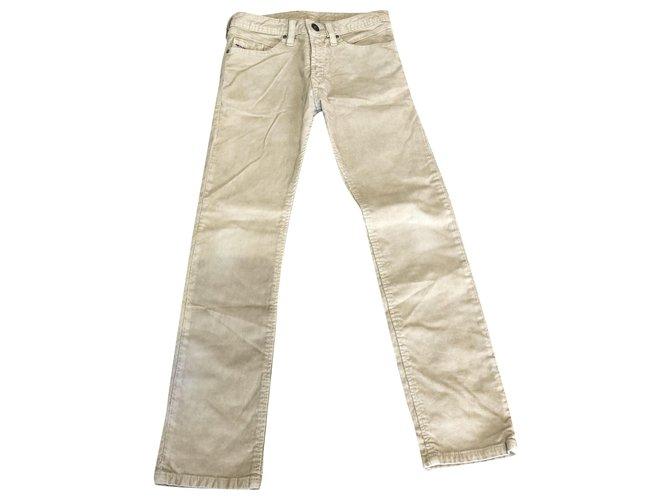 Diesel Pants Pants Velvet Beige ref.249313
