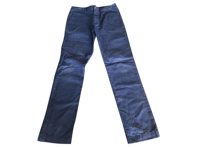 Polo Ralph Lauren Pants Pants Cotton Blue,Light blue ref.249319