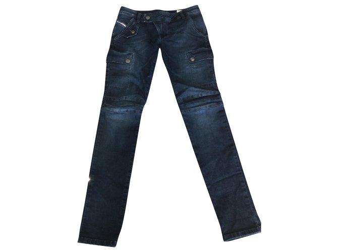 Diesel Pants Pants Denim Blue,Navy blue,Dark blue ref.249331