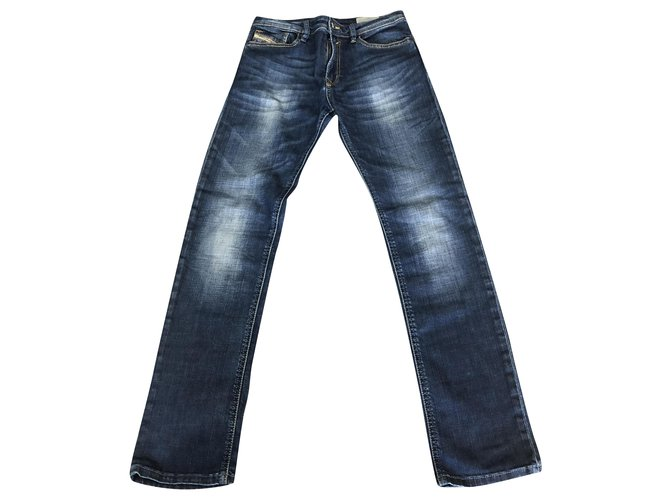 Diesel Pants Pants Denim Blue,Dark blue ref.249336