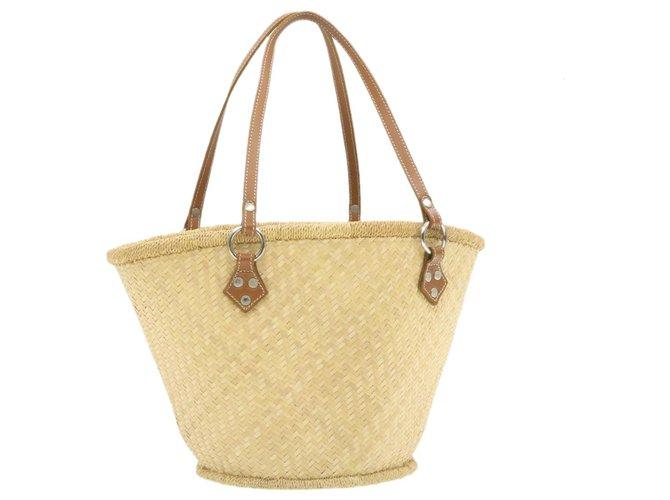 Burberry Burberry Shopper bag Handbags Wood Beige ref.249769