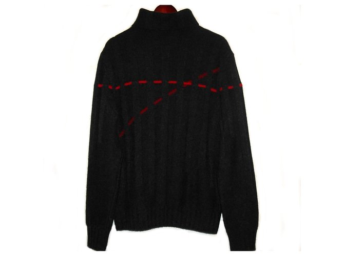 Hermès Hermés Paris Cashmere turtleneck knitwear sweater Sweaters Cashmere Red,Grey ref.249982