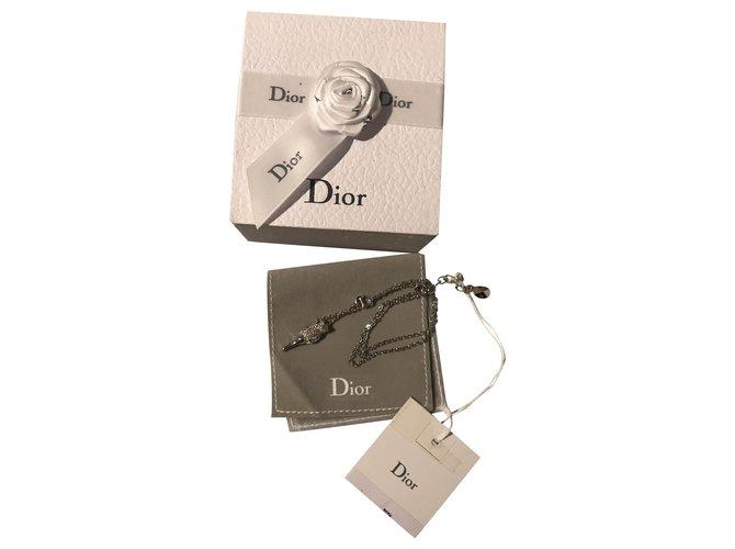 Colliers Dior Colliers Métal Argenté ref.250084