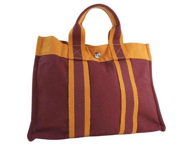 Hermès Hermès Fool toe Handbags Cloth Red ref.250154
