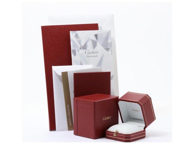 Bagues Cartier cartier 0.20 Solitaire Diamant Brillant Carat D / IF Rond 1895 Bague en platine Platine Blanc ref.250194