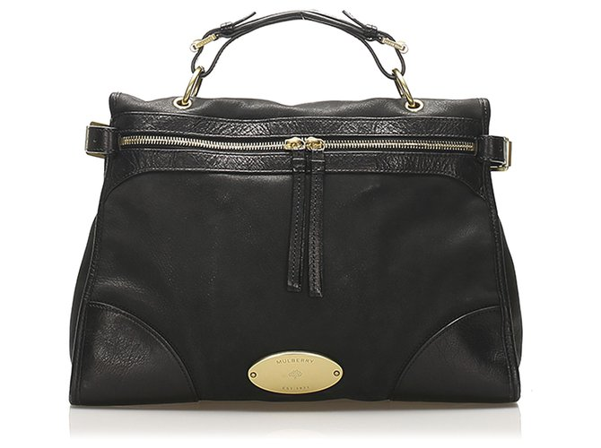 Mulberry Mulberry Black Taylor Leather Satchel Handbags Leather,Pony-style calfskin Black ref.250433