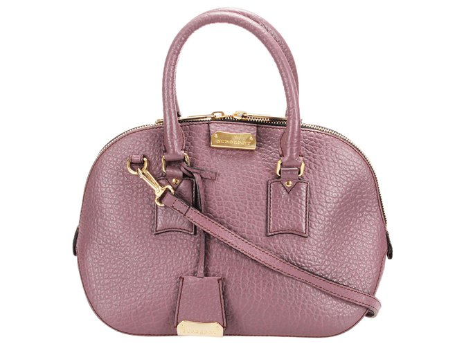 Burberry Burberry Purple Orchard Leather Satchel Handbags Leather,Pony-style calfskin Purple ref.250811