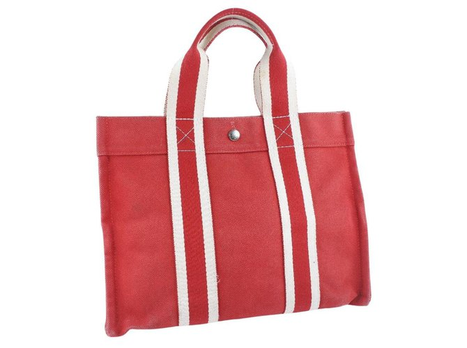 Hermès Hermès Handbag Handbags Cloth Red ref.250911