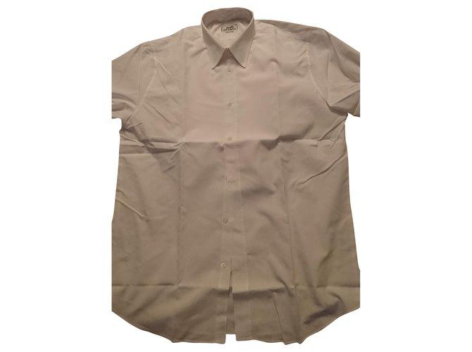 Hermès Man's shirt Shirts Cotton White ref.251355