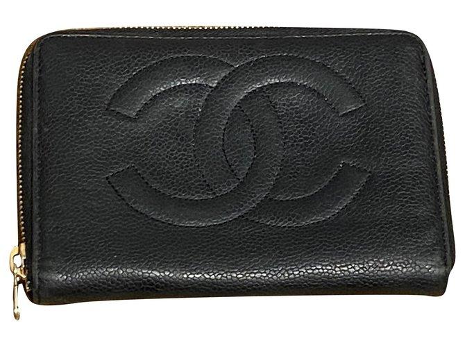 Chanel Wallets Wallets Leather Black ref.251415