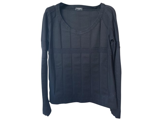 Chanel Top chanel Tops Cotton Black ref.251609