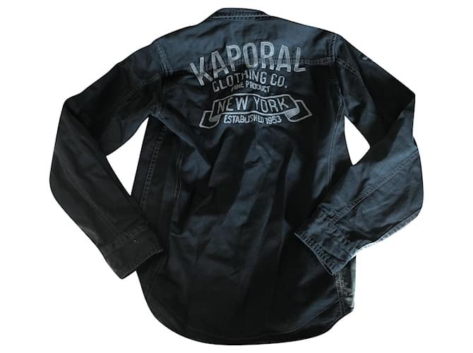 Autre Marque KAPORAL Black Grey Cotton  ref.252229
