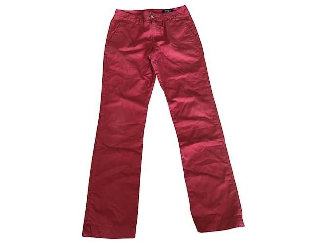 Polo Ralph Lauren Pants Pants Cotton Red,Navy blue ref.252486