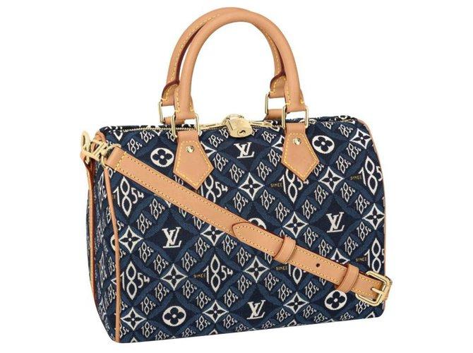 Louis Vuitton LV speedy 25 New Blue  ref.252877