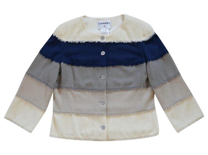 Chanel Jackets Multiple colors Silk Wool Elastane Nylon  ref.253058