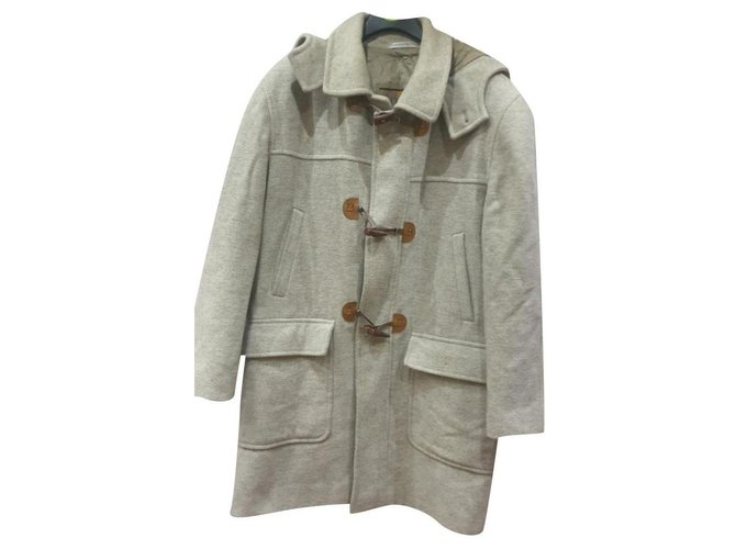 Autre Marque Franco Ancona wool duffle coat Men Coats Outerwear Wool Grey ref.253188