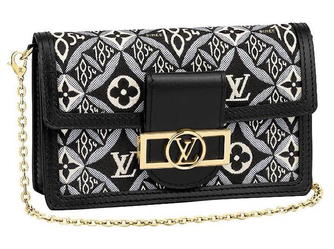 Louis Vuitton LV Dauphine chain on wallet Since 1854 Grey Leather  ref.253312
